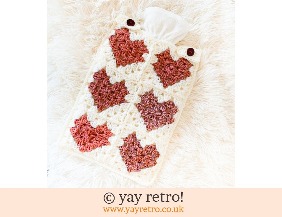 yay retro!: Love Me Do Crochet Hot Water Bottle Set (£22.00)